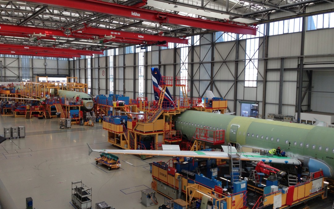 Besuch der Hamburger Airbus Werke mit dem Vorstand der AHK Spanien