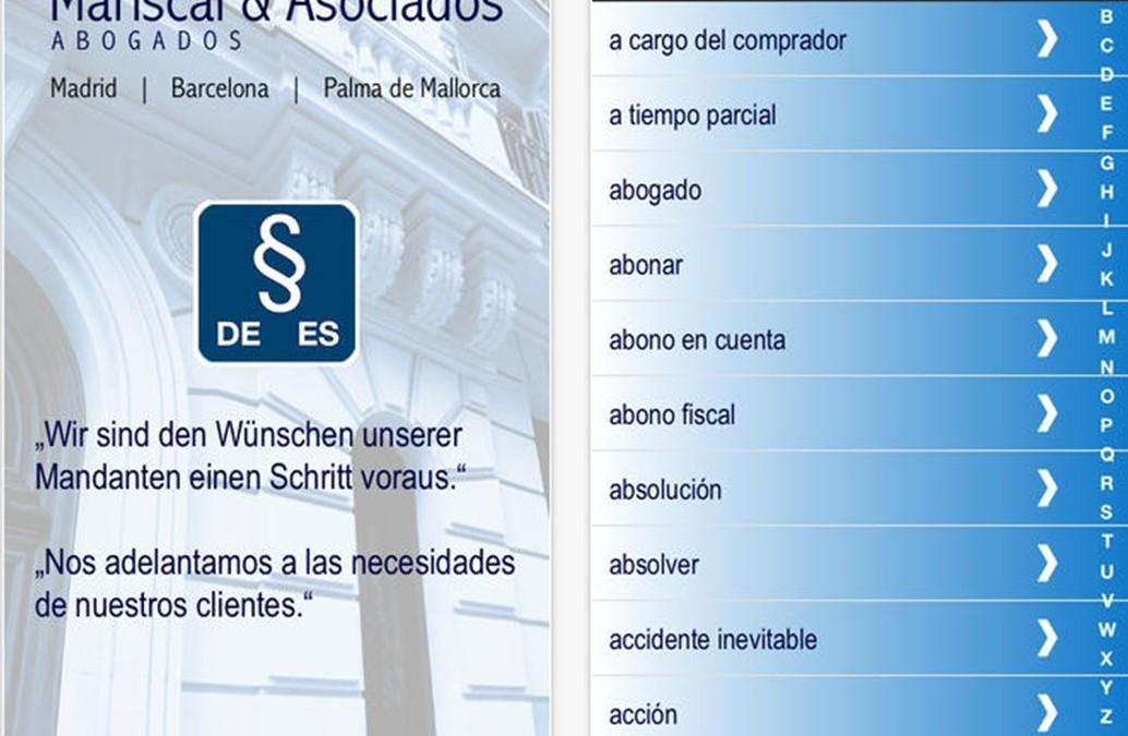 Mariscal App – Rechtswörterbuch