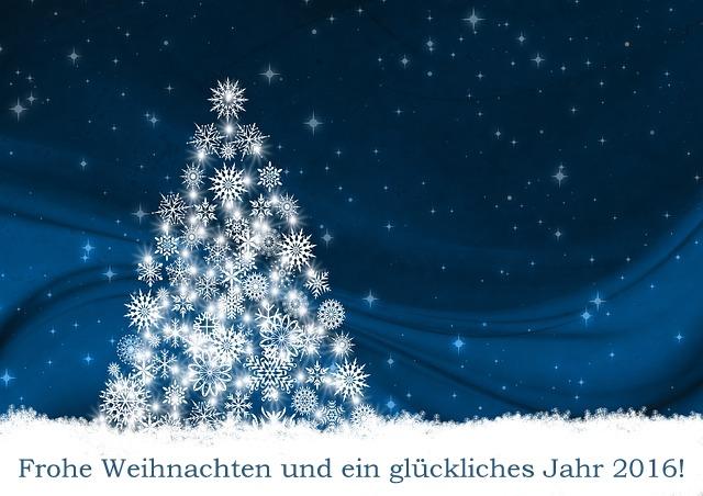 Frohe Weihnachten und ein glückliches und erfolgreiches Jahr 2016!
