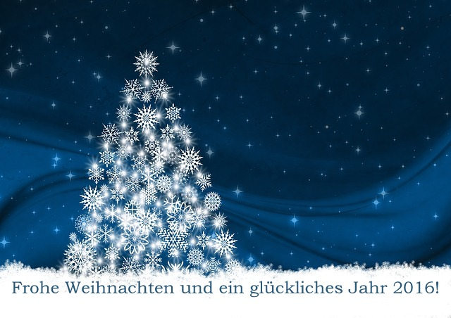 Frohe Weihnachten und ein glückliches neues Jahr 2016!